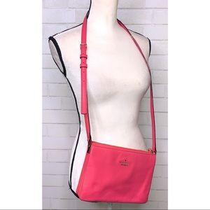KATE SPADE | Pink Leather Zip Crossbody Bag